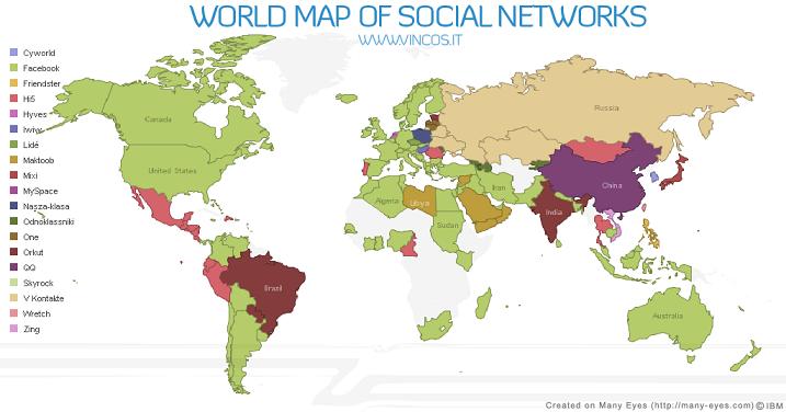 Cartographie des médias sociaux de juin 2009