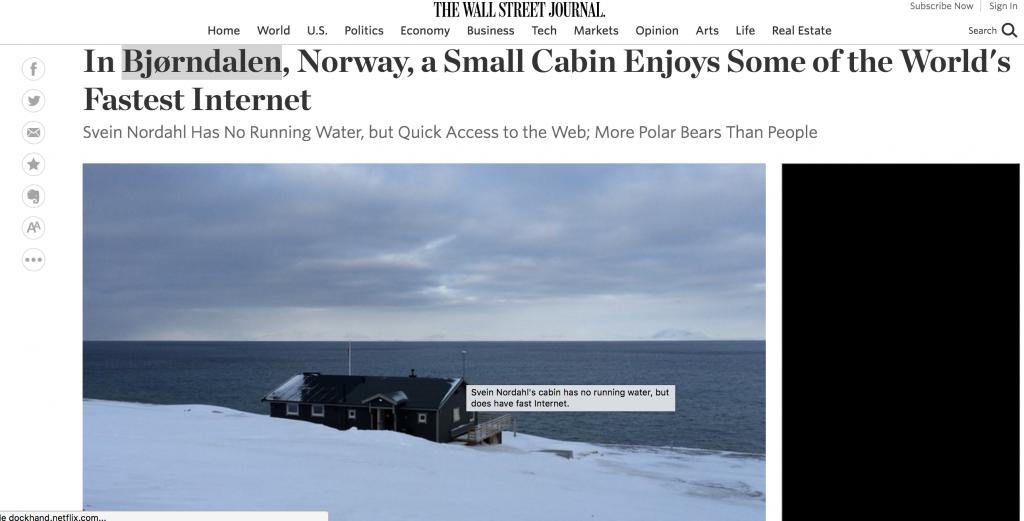 L'internet le plus rapide du monde
