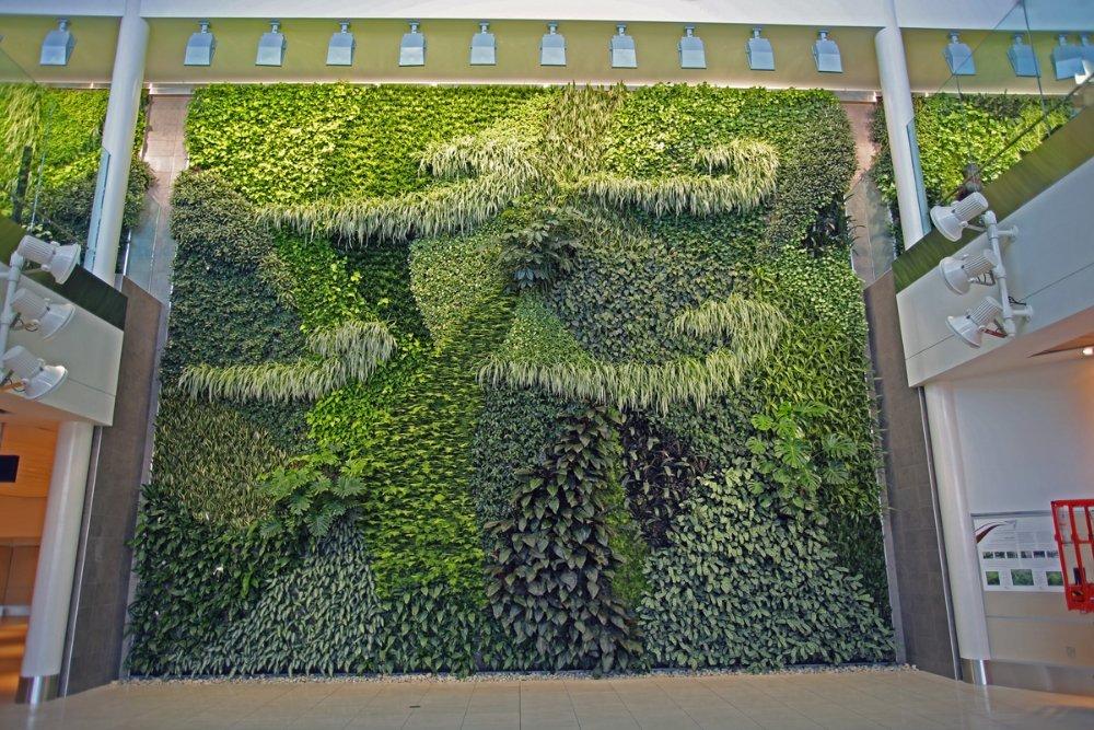 Mosaïque végétale aéroport d'Edmonton