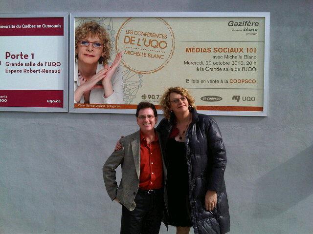 Jean Boileau et Michelle Blanc à lUQO