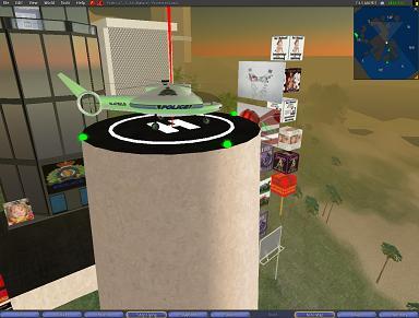 Le faux QG de la GRC dans Second Life