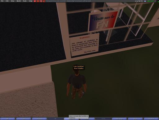 Bureau de LePen dans Second Life