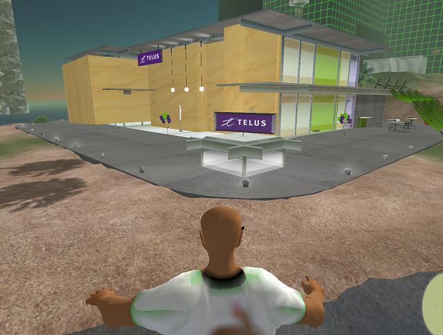 Le magasin TELUS dans Second Life