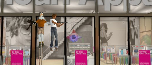 Terrorisme virtuel chez American Apparel dans Second Life