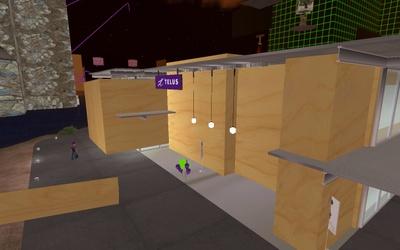 Vandalisme chez TELUS dans Second Life