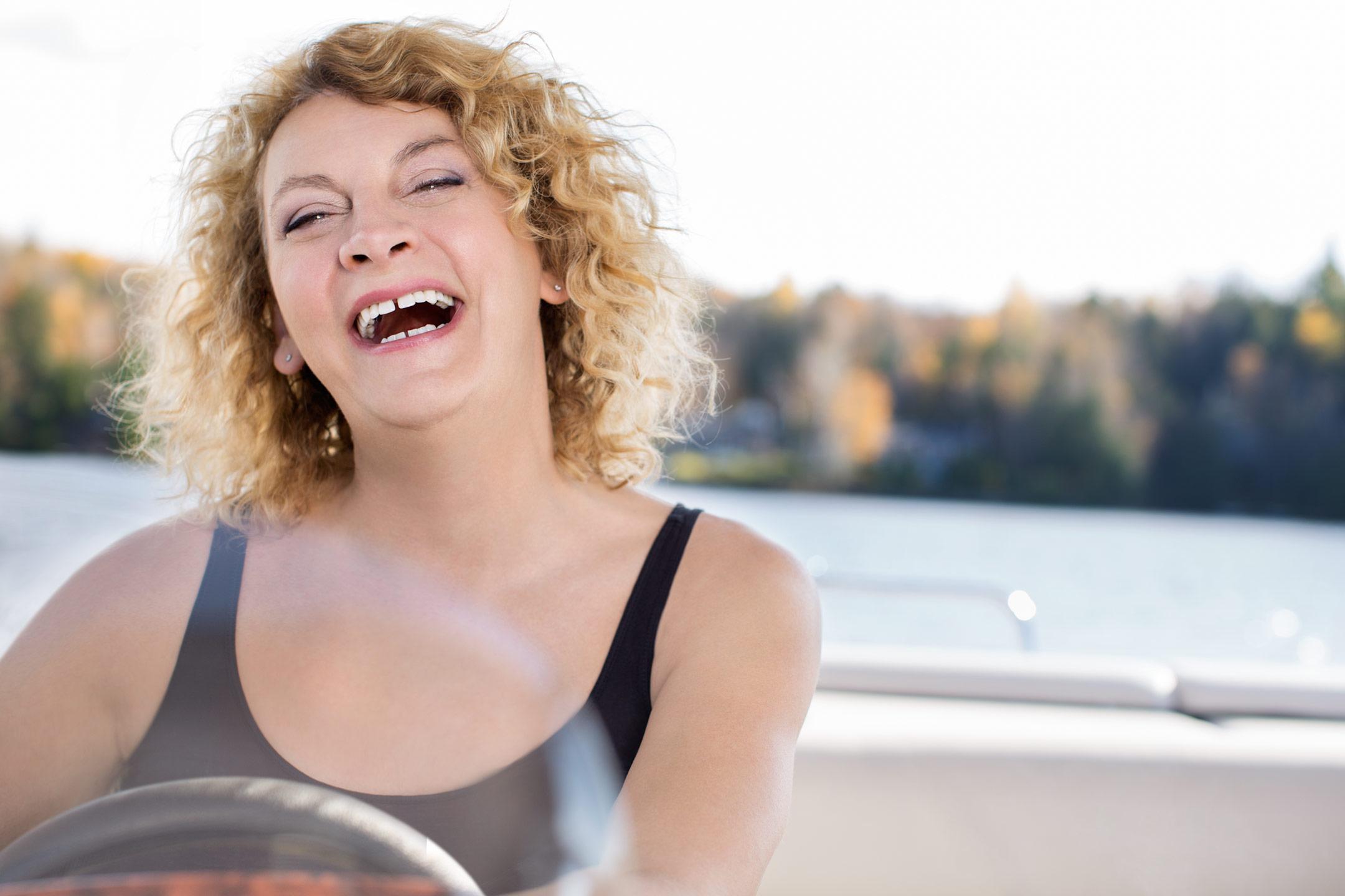 Dents de Michelle Blanc après traitement