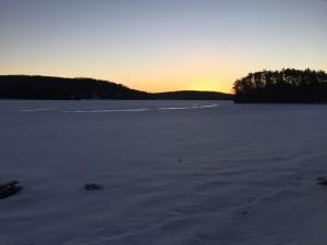 L'un des lacs de Chertsey en sursis