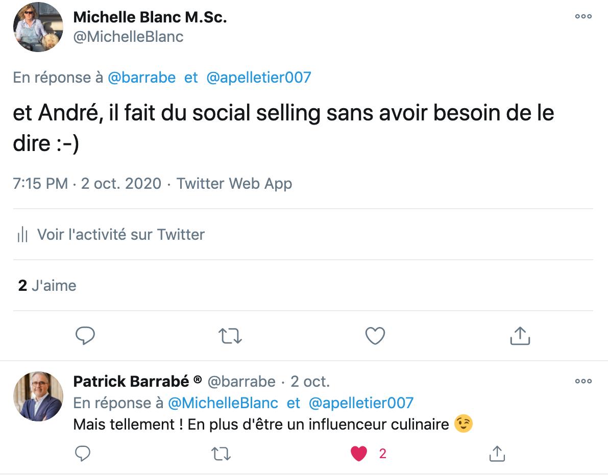 exemple de social selling 2